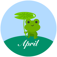 Frog April Clipart
