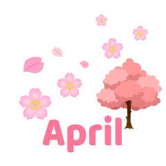Cherry Blossoms April Clipart
