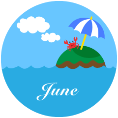 Crab Island June Clipart