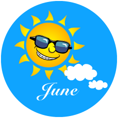 Sun June Clipart
