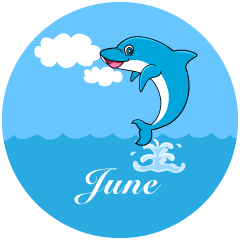 Dolphin June Clipart