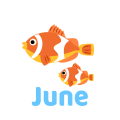 Clownfish June Clipart