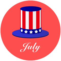 American Hat July Clipart