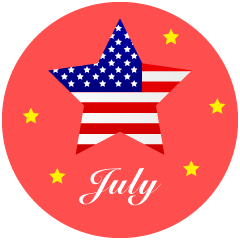 American Star July Clipart
