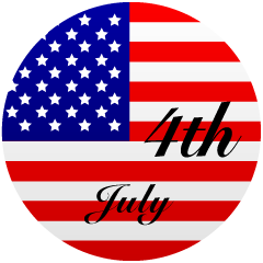 USA Flag July Clipart