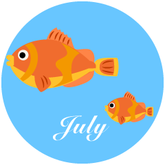Tropical Fish July Clipart
