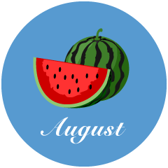Watermelon August Clipart