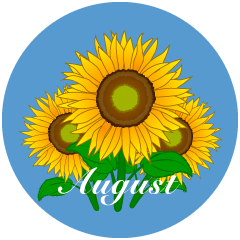Sunflower August Clipart