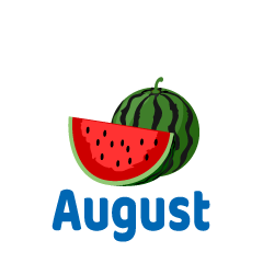 Cut Watermelon August Clipart