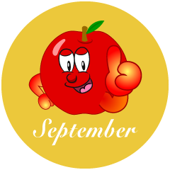 Apple September Clipart