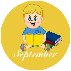 Boy Reading September Clipart