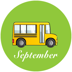 School Bus September Clipart