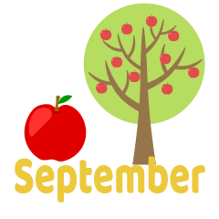 Apple Tree September Clipart