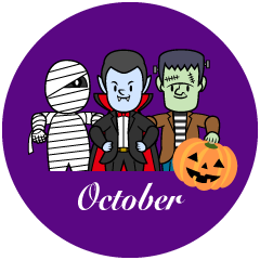 Monster October Clipart