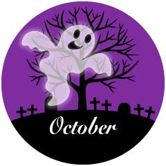 Ghost October Clipart