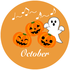 halloween Pumpkin and Ghost October Clipart