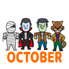 Monsters October Clipart