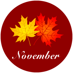 Autumn Leaves November Clipart