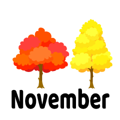 Autumnal Forest November Clipart