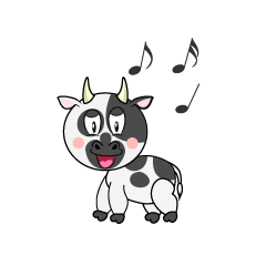 Singing Cow Cartoon
