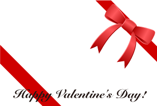 Red Ribbon Valentine's Day Wallpaper