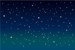 Stars in Night Sky Background
