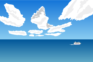 Ocean Clouds Background