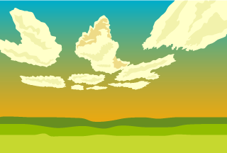 Sunset Meadow Background