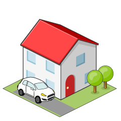 House and Car Clipart