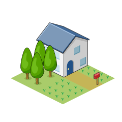 House with Tree Clipart