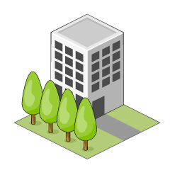 Building and Trees Clipart