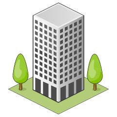 Office Building and Trees