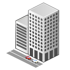 Building and Road Clipart