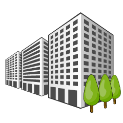 Lined Buildings Clipart