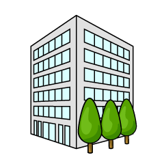 Company Building from Angle Clipart