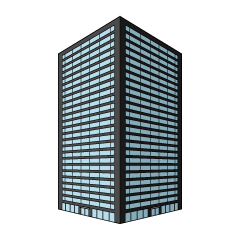 Black Building Clipart