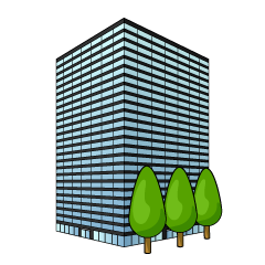 Glass Office Building Clipart