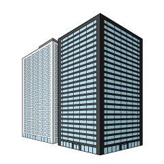 Two Buildings Clipart