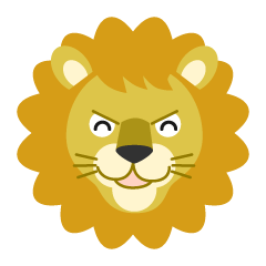 Smile Lion Face Clipart