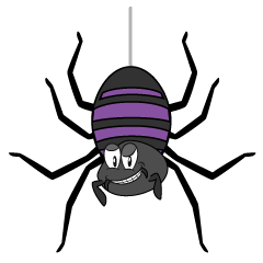 Hanging Spider Cartoon