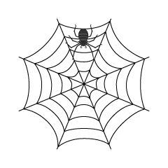 Spider and Spiderweb Clipart