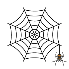 Spiderweb and Orange Spider
