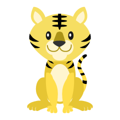 Simple Tiger Clipart