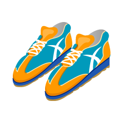 Orange and Blue Sneaker