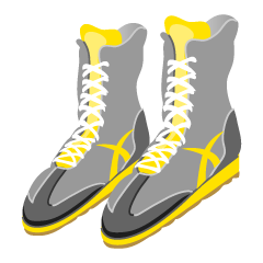 Yellow Boxing Shoes
