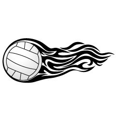Black Flame Volleyball