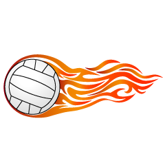 Orange Flame Volleyball