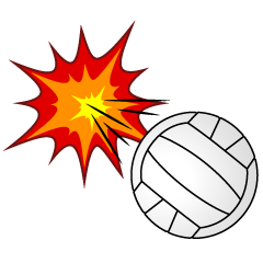 Spiked Volleyball