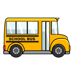 Right of Small School Bus