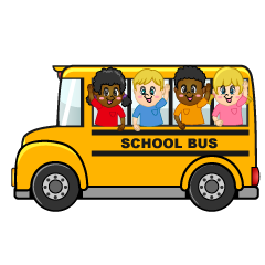 Small School Bus with Children